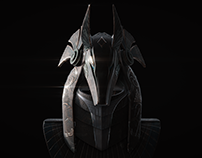 Startgate Anubis Guard Helmet 3D Art Project