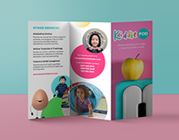 KiddiePod Logo and Brochure