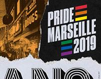 PRIDE MARSEILLE 2019 / VISUAL IDENTITY