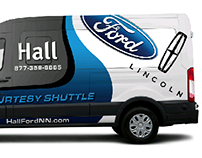 Hall Ford Lincoln Vehicle Wraps and. Banner