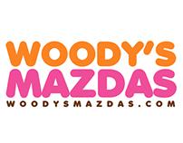 Woody's Mazdas Logo Design