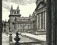 SCRATCHBOARD OF BLENHEIM PALACE