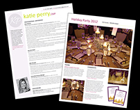 Resume & Portfolio Book for Katie Perry, Event Planner