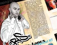 Maquette de Livre sur le rap