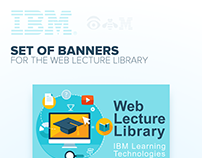 Set of banners for IBM