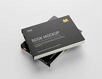 Free landscape book mockup