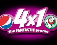 """DISEÑO WEB """"4X1 The FANTASTIC promo"""" PARA PEPSI  Y 7UP"""