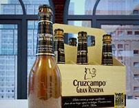 3D Advertising Cruzcampo