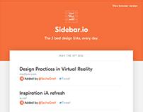 Sidebar redesign