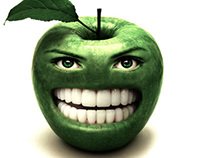 Smiley, the green apple!!