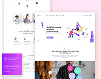 Professional digital agency Home Page Design