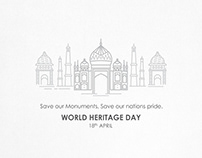 SAVE OUR MONUMENTS, SAVE OUR NATIONS PRIDE.