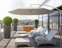 Visualization of private terrace
