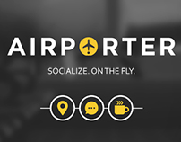 """Mobile App - UI Design - """"AIRPORTER"""" App"""