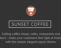 Sunset Coffee WordPress Bars & Bistros Theme