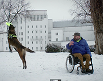 Neo wheelchair assistant dog social campaign