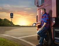 Illustratie TomTom trucknavigatie