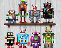 Vintage Tin Robot collection 2