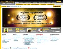 Maybank Singapore - Web Revamp (2009)