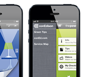 """The Power of Green"" iPhone app for Con Edison"