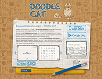 Doodle Cat Game. Landing Page
