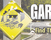 Garage Sale sign graphic and header