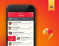 Parrot Chat App Design