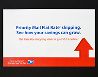 U.S. Postal Service Priority Mail Flat Rate Direct Mail