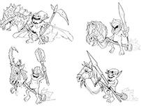 Four Horseymans - Concept Art