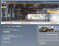 Sitio Web HTML constructora MYM
