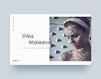 Vika Maleeva portfolio design