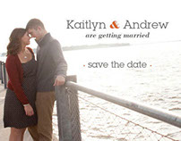 Wedding Invitations & Save the Dates - Kaitlyn & Andrew