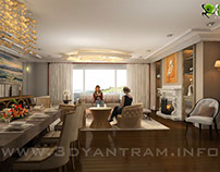 Inspiration Modern 3D Living Room Design View