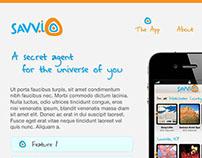 Savv.io app Logo + Web Site