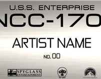 Star Trek: Enterprise Model Plaque