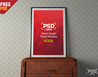 PSD Photo Poster Frame Mockup