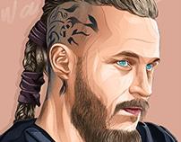 Ragnar vikings - vector art