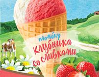 Упаковка для мороженого «Родимая сторонка»
