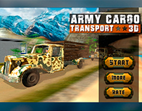 Army Cargo Transport 3D Simulation Game UI Design
