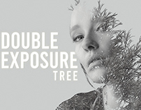 Double Exposure Tree in Photoshop