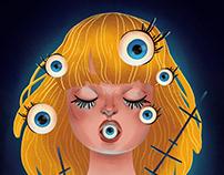 I've got my eye on you! Illustration