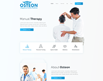 Health Care Osteon Web Design