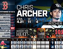 MLB Tampa Bay Rays: Scoreboard Layout Design