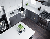 Contemporary Kitchen Design, Bold and Natural