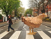 Why did the Cardboard Chicken cross Abbey Road?