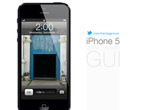 iPhone 5 Lock screen GUI psd
