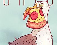 Porto seagull - Illustration