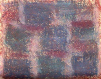 Abstract Art : Pastel on Textured Unbleached Paper
