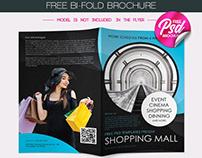 FREE SHOPPING MALL BI-FOLD BROCHURE IN PSD