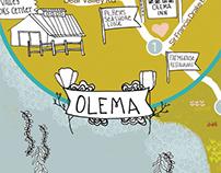 Illustrated Wedding Map, Olema, Pt. Reyes